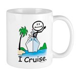 Cruising Stick Figure Mugs