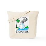 Cruising Stick Figure Tote Bag