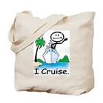 Cruising Stick Figure Tote Bag