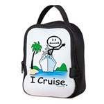 Cruising Stick Figure Neoprene Lunch Bag