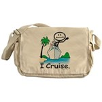 Cruising Stick Figure Messenger Bag