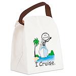 Cruising Stick Figure Canvas Lunch Bag