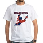 """""""Game Over"""" White T-Shirt"""