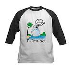 Cruising Stick Figure Baseball Jersey