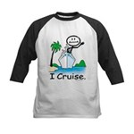 Cruising Stick Figure Baseball Jersey