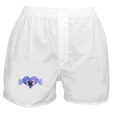 Mom's heart with pansy Boxer Shorts