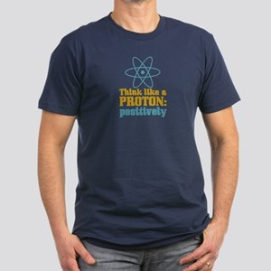 Proton Positively Men's Fitted T-Shirt (dark)