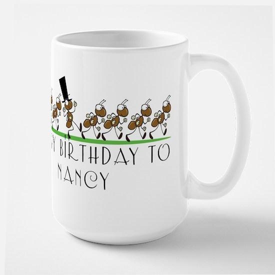 Happy Birthday Nancy (ants) Mugs