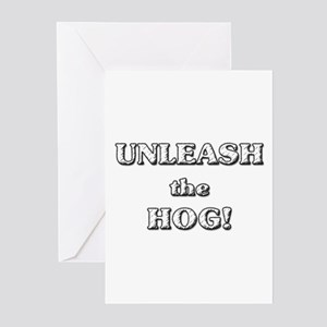 Unleash The Hog Greeting Cards (Pk of 10)