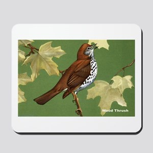 Wood Thrush Bird Mousepad