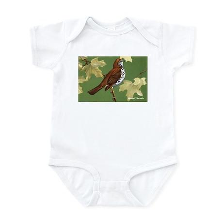 Wood Thrush Bird Infant Bodysuit