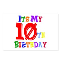 10th Birthday Postcards (Package of 8)