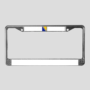 Flag of Bosnia and Herzegovina License Plate Frame