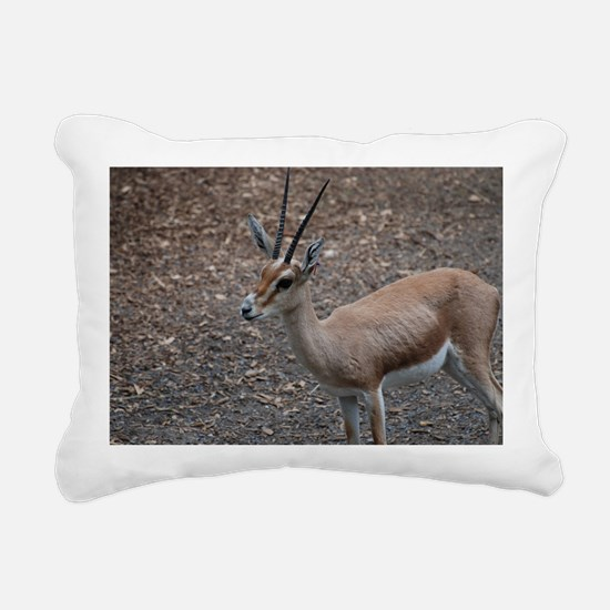 Cute Slender Horn Gazell Rectangular Canvas Pillow