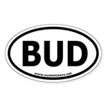 BUD Oval Car Sticker (thin font)