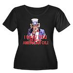 Uncle Sam Drill American Oil Wm PlusSz Scp Nk Dk T
