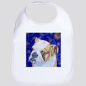 Starry Night Bulldog Bib