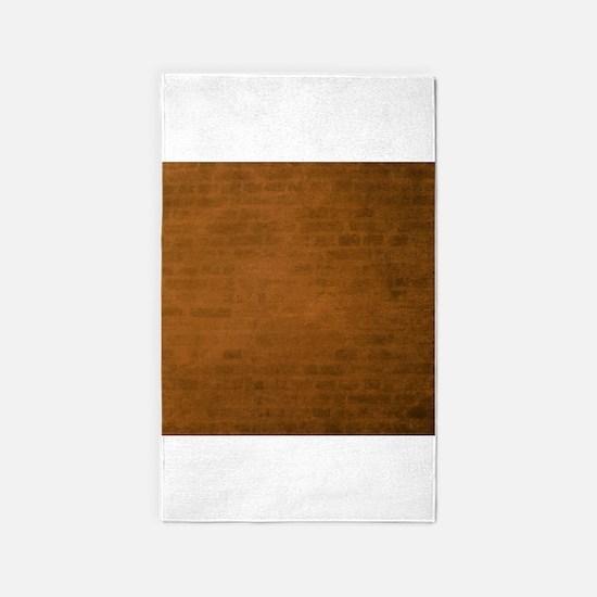 Burnt orange brick texture 3'x5' Area Rug