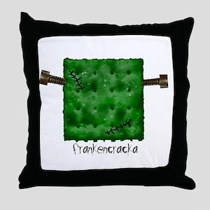 frankencraka Throw Pillow