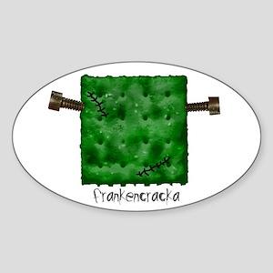 frankencraka Oval Sticker