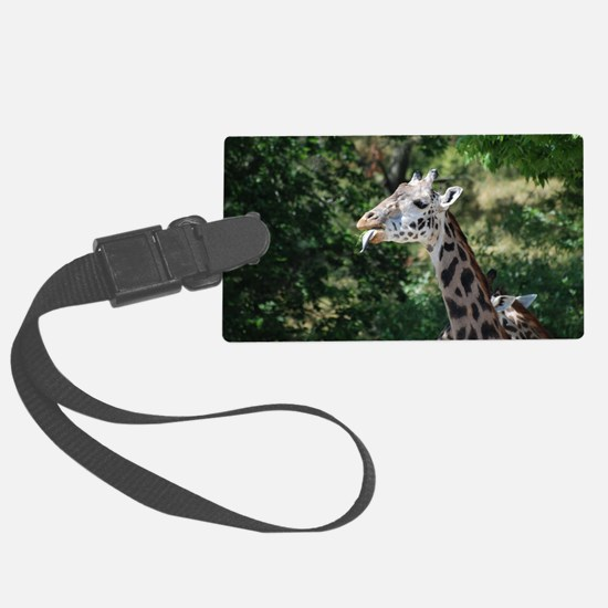 Giraffe Sticking His Tongue Out Luggage Tag