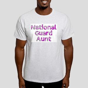 National Guard Aunt Pink Camo Light T-Shirt
