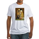The Kiss / Cavalier (Blk-Tan) Fitted T-Shirt