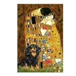 The Kiss / Cavalier (Blk-Tan) Postcards (Package o