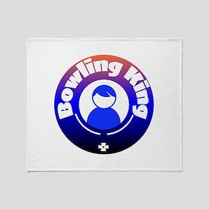 Bowling King Throw Blanket