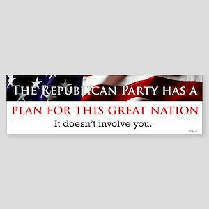 Republican Plan Bumper Sticker