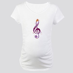 Treble clef Maternity T-Shirt