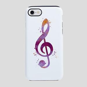 Treble clef iPhone 7 Tough Case