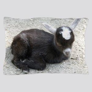 Curled Up Baby Goat Pillow Case