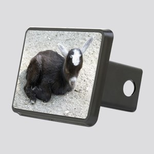 Curled Up Baby Goat Rectangular Hitch Cover