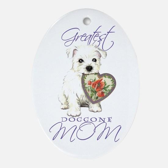 Westie Mom Oval Ornament