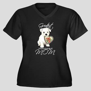 Westie Mom Women's Plus Size V-Neck Dark T-Shirt