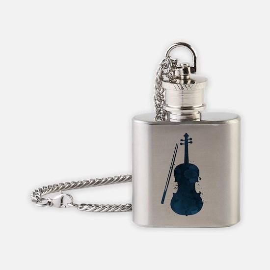 Unique Viola Flask Necklace
