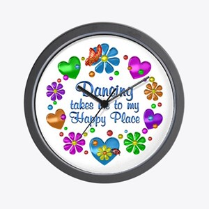 Dancing My Happy Place Wall Clock