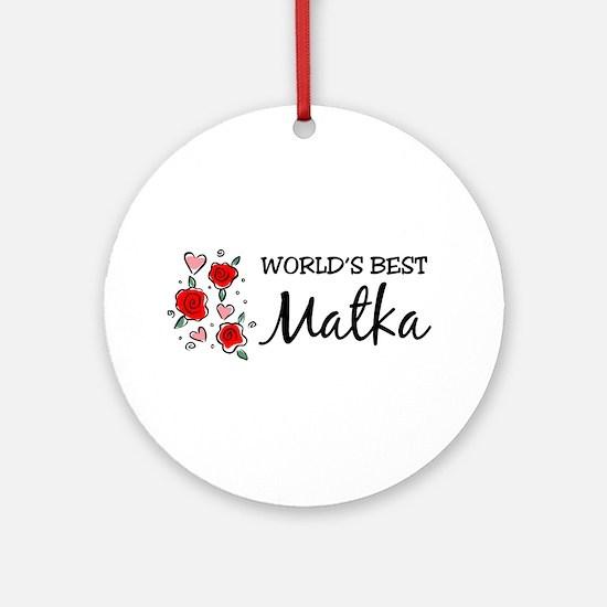 WB Mom [Polish] Ornament (Round)