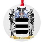 Folks Round Ornament