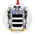 Folkes Round Ornament