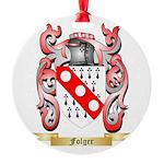 Folger Round Ornament