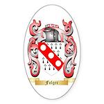 Folger Sticker (Oval 50 pk)