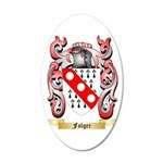 Folger 35x21 Oval Wall Decal