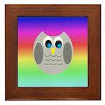Owl (Rainbow) Framed Tile