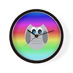Owl (Rainbow) Wall Clock