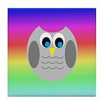 Owl (Rainbow) Tile Coaster