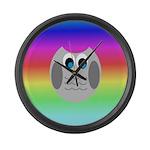 Owl (Rainbow) Large Wall Clock