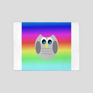 Owl (Rainbow) 5'x7'Area Rug