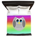 Owl (Rainbow) King Duvet